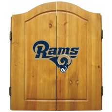Los Angeles Rams NFL Dartboard Cabinet Set