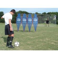 Soccer Wall Pro Mannequins w/ Soccer Tennis Net, SET OF 4