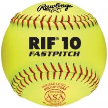 """Rawlings R12RYSA ASA RIF Level 10 Fastpitch Softballs, 12"""", dz"""