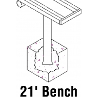 Aluminum Player Bench, PERMANENT, 21'