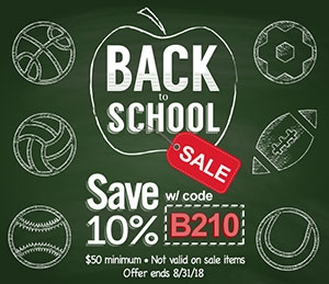 Back To School Sale - Save 10%