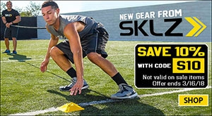 Save 10% on SKLZ Training Gear with code S10 (sale ends 3/16/18. not valid on sale items)