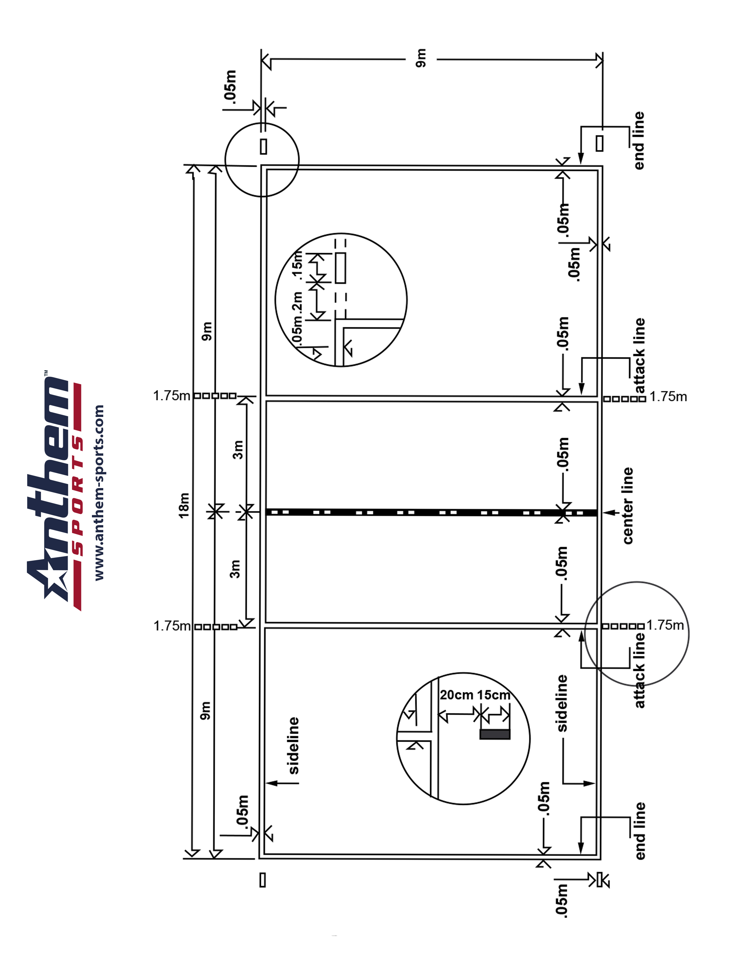 Indoor Volleyball Court Diagram