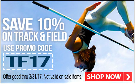 Save 10% Track & Field with promo code TF17