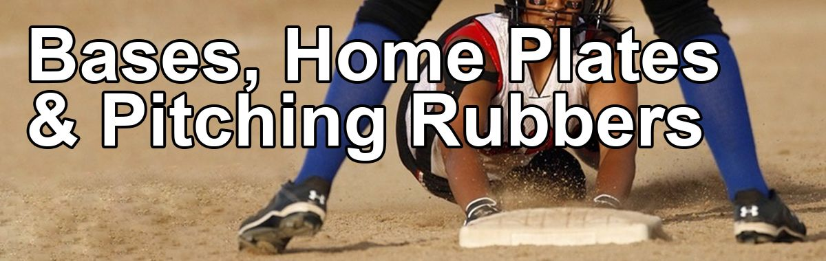 Softball Bases, Home Plates and Pitching Rubbers