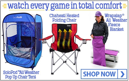 Watch Every Game In Total Comfort with the SoloPod™, Chaheati Chair, and the Wrapalap®