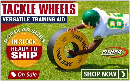 Football Tackle Wheels now in stock.