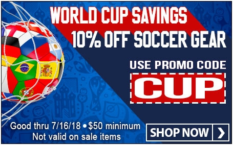 World Cup Savings. 10% off Soccer Gear with promo code CUP