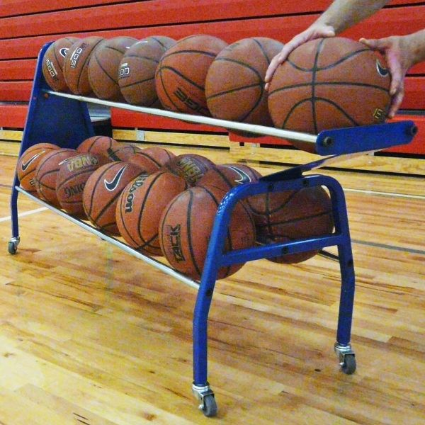 Generies 2 Pcs Portable Basketball Bags Hand-Woven Mesh Storage Sports Carrier Holder for Ball
