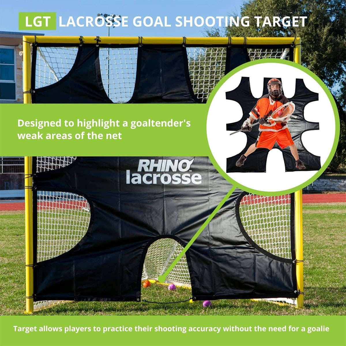 Champion Rhino Lacrosse Goal Target, LGT - A63-340 ...