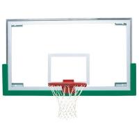 "Bison BA42XL Unbreakable 42'' x 72"" Short Glass Basketball Backboard"