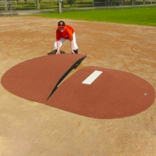 "Portolite Two-Piece 8"" Game Pitching Mound, Clay"