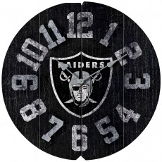 Oakland Raiders Vintage Round Clock