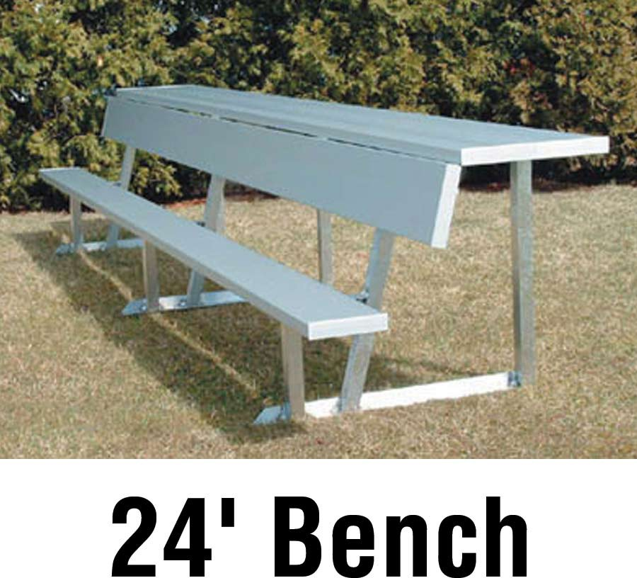 Aluminum Player Bench W Backrest And Shelf Portable 24