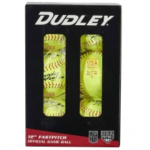 "Dudley 12"", 6/pk 4D147RY6 USA/NFHS Poly Fastpitch Softballs"