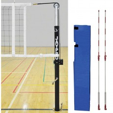 "Jaypro Powerlite 3-1/2"" International Volleyball Net System, PVB-7000"