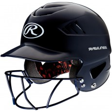 Rawlings Coolflo Batting Helmet with BB/SB Facemask, RCFHFG