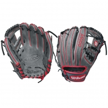"Wilson 11.5"" A1000 Grey w/ Red Baseball Glove, WTA10RB181786"