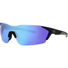 Rawlings Adult Rimless Sunglasses, Black/Smoke with Blue Mirror
