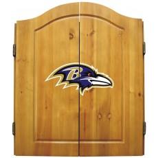 Baltimore Ravens NFL Dartboard Cabinet Set