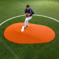 "Portolite Two-Piece 8""Hx10'5""Lx7'W Game Pitching Mound, Clay"