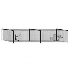 55' Batting Cage Tunnel Frame, 3-Section, Baseball/Softball