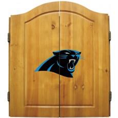 Carolina Panthers NFL Dartboard Cabinet Set