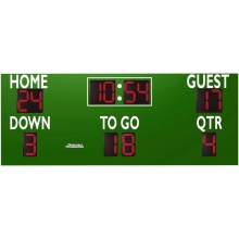 Sportable Scoreboards 7416 Football Scoreboard, 16'W x 6'H