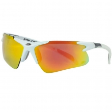 Rawlings Adult Sunglasses, Shiny White/Smoke with Orange Mirror