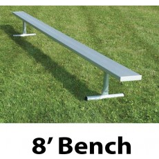 National Rec 8' PORTABLE Aluminum Team Player Bench