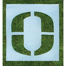 Premium Football Field Stencil, 3-1/2'H, Single Letter or Number