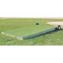 "Promounds MP2035 Collegiate Portable Batting Practice Pitching Platform, 7'L x 3'W x 6-10""H, Green"