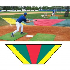 Aer-Flo Major League Bunt Zone Infield Protector, 20'x24'x64'