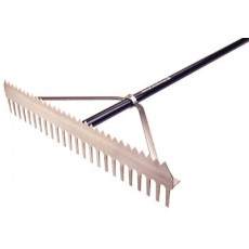 "Midwest 24""W Double Play Infield Grooming Rake"