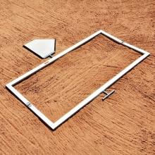 Jaypro 3' x 7' Softball Folding Batter's Box Template, BBTMSB