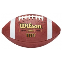 Wilson Pop Warner TDY Official Leather Football, age 11-14