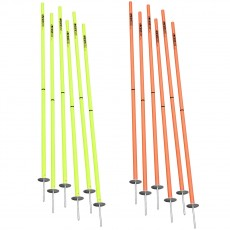 Kwik Goal Set of 6 Soccer Coaching Sticks 2 Go