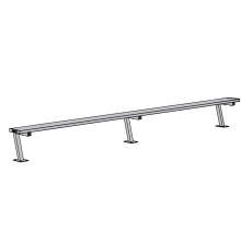 Jaypro 15' SURFACE MOUNT Aluminum Player Bench, PB-15SM