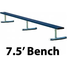 7.5' Portable Aluminum Powder Coated Player Bench, BEPI08C