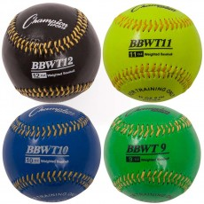 Champion 4/set Weighted Training Baseballs