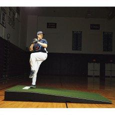"""Promounds MP2001 Collegiate Portable Pitching Mound, 4'W x 9'L x 10""""H, Green"""