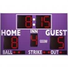 3312LED Baseball / Softball Scoreboard w/ Timer, 8'W x 5'H