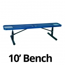 UltraPlay 10' Diamond Plastic Coated Portable Bench