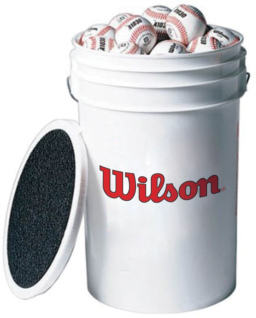 Wilson 3 Dz A1010 Blem Practice Baseballs Amp Bucket