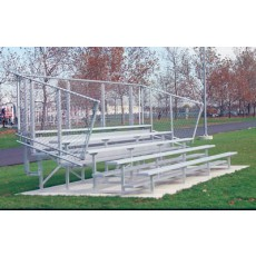 5 Row, 27' Portable PREFERRED Aluminum Bleacher w/ Chain Link