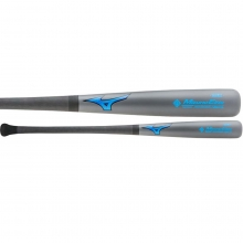Mizuno MZMC243 Maple/Carbon Composite Baseball Bat, Gray/Blue