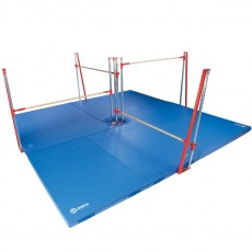 Spieth Polaris 6' Rail Quad Bar Gymnastics Training System w/ Mats