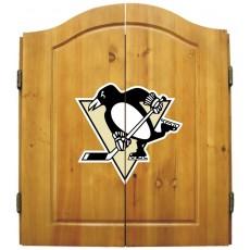 Pittsburgh Penguins NHL Dartboard Cabinet Set