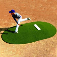 "Portolite Two-Piece 10""Hx11'3""Lx7'7""W Game Pitching Mound, Green"