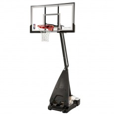 "Spalding Ultimate Hybrid 54"" Glass Portable Basketball Hoop"